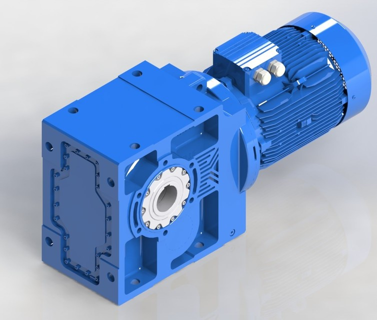 SolidWorks 模型:斜齿轮减速机