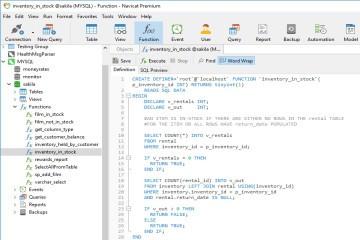 Navicat使用教程:了解关系数据库中的存储过程和函数