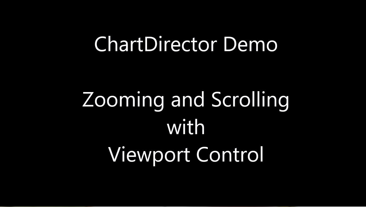 ChartDirector视频教程:使用视口控件缩放和滚动