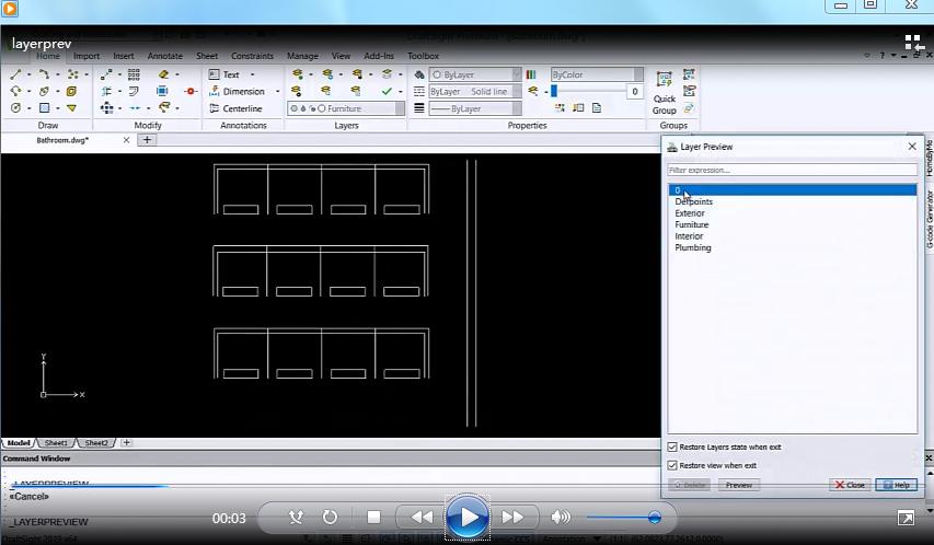 SolidWorks DraftSight:2D制图技巧—使用图层预览进行查看!