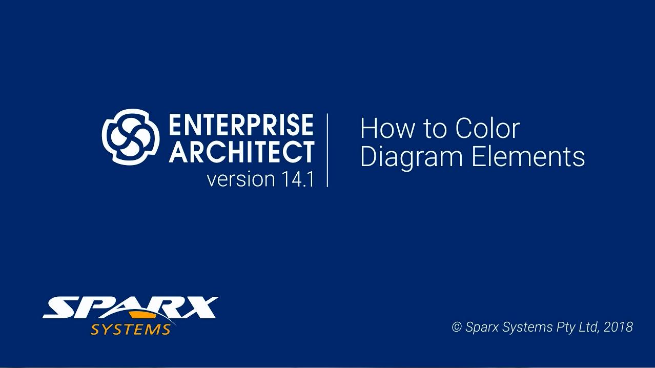 Enterprise Architect视频教程:如何为图表元素着色