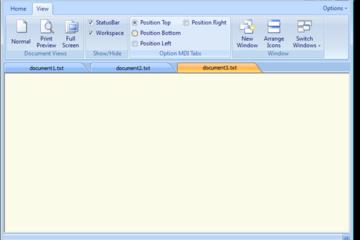 QtitanRibbon预览:桌面窗口预览