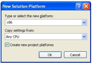 VARCHART XGantt用户手册(.NET版):如何构建所需平台x86和x64
