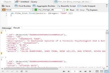 Navicat使用教程:在MongoDB中执行正则表达式搜索