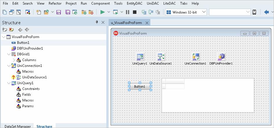 UniDAC使用教程:如何在Delphi中访问DBF数据库