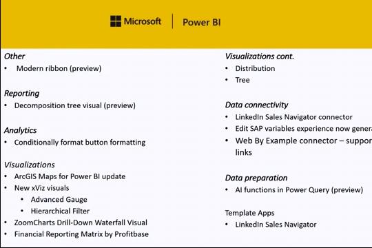 Power BI Desktop 11月版本功能介绍