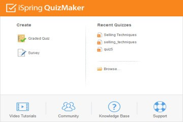测验制作工具iSpring QuizMaker教程:如何创建一个新测验