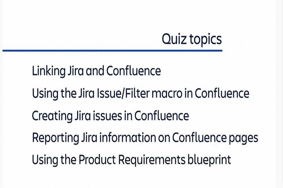 测验:Jira和Confluence链接的知识