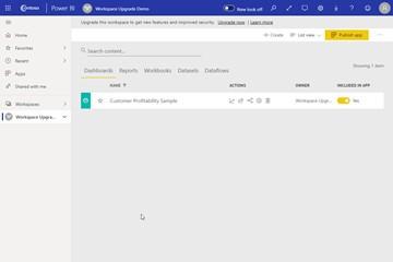 注意,Power BI新工作区公开预览正式发布, 新增联系人列表等功能