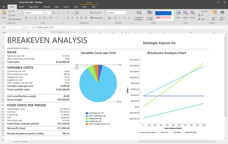 DevExpress Office File API 示例:Spreadsheet API - Part 3