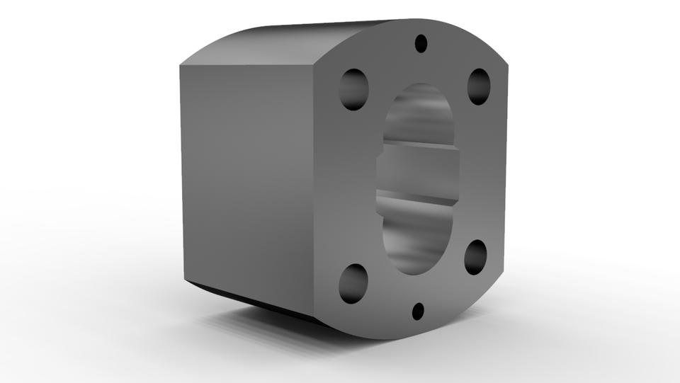 SolidWorks模型:油泵壳体