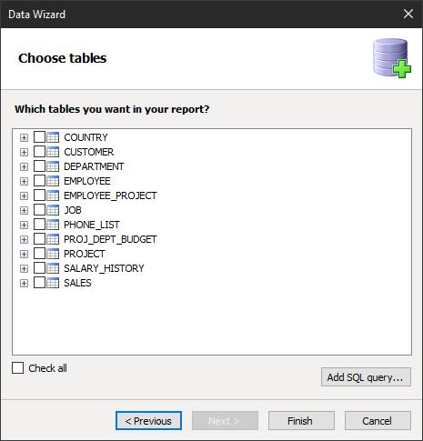 如何从FastReport.Net报表设计器连接到Firebird数据库