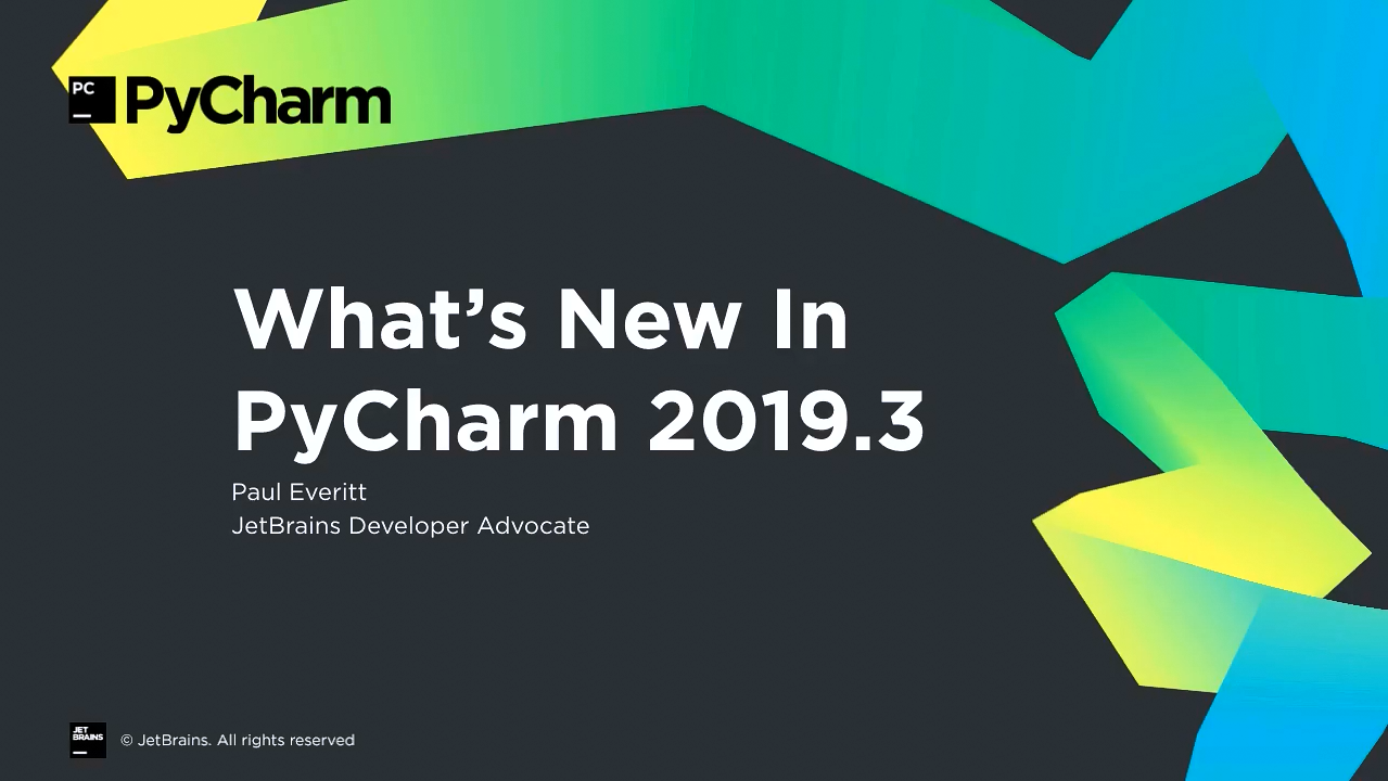 PyCharm视频教程:2019.3的新增功能
