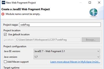 使用MyEclipse开发Java EE应用:在Web项目中使用Web片段