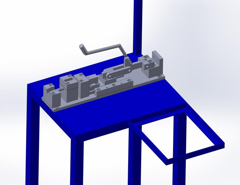 SolidWorks模型:卧式压机