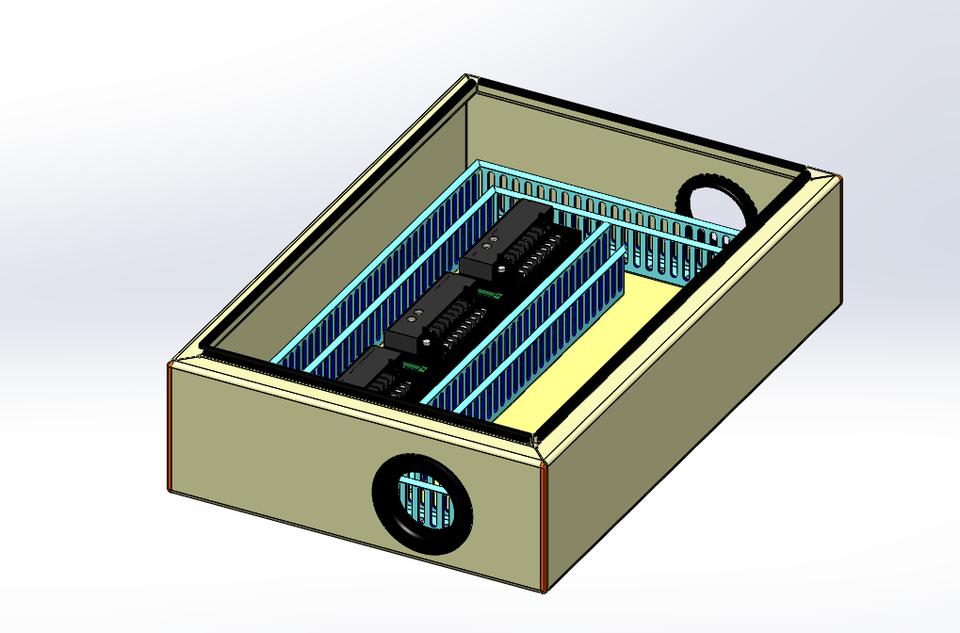 SolidWorks模型:接线盒和分线盒