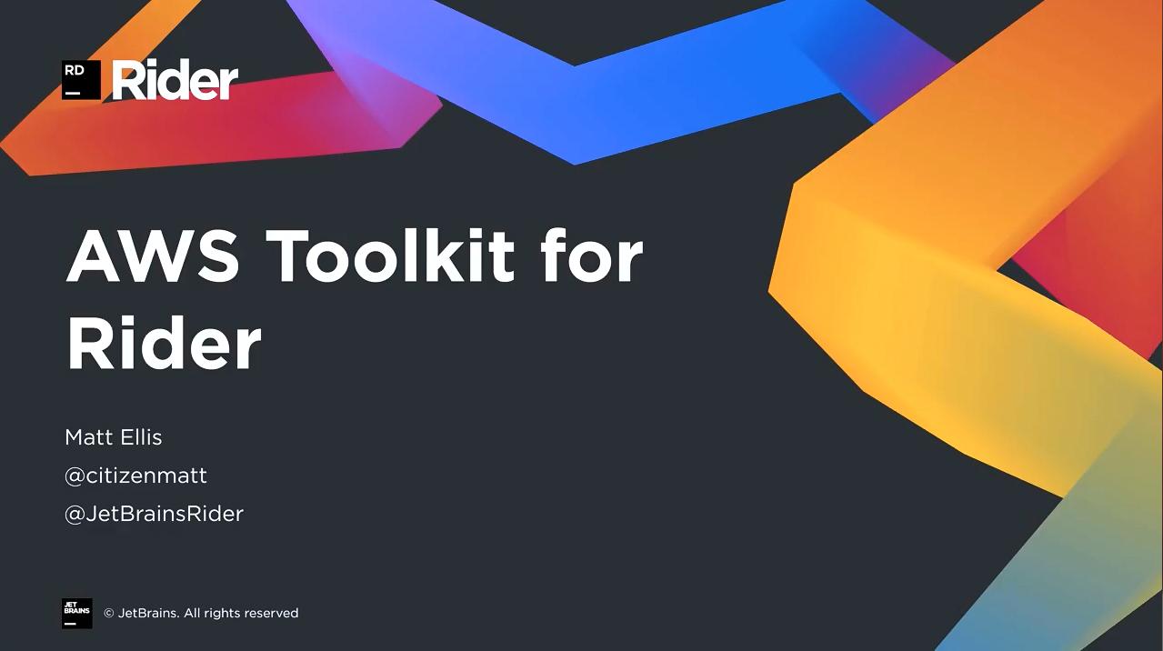Rider视频教程:推出适用于Rider的AWS Toolkit