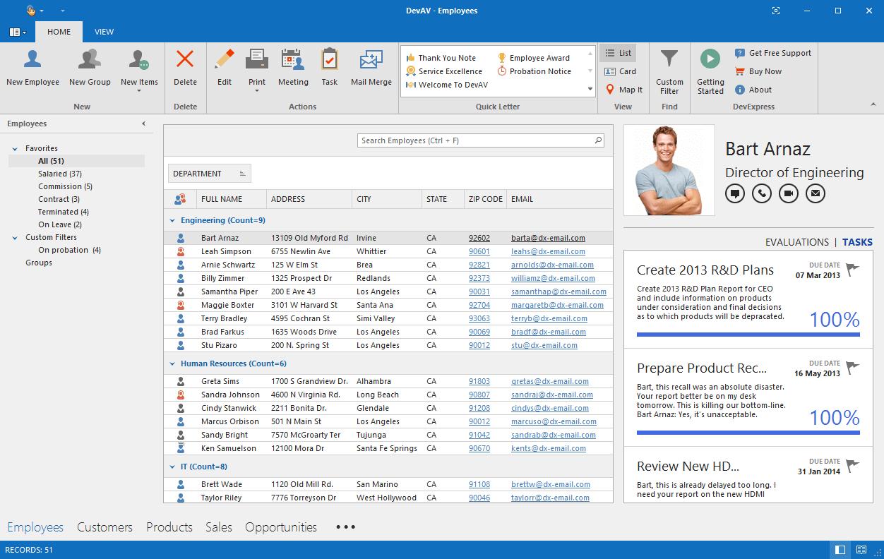 DevExpress WinForms示例:将Pivot Grid用作Master Filter项
