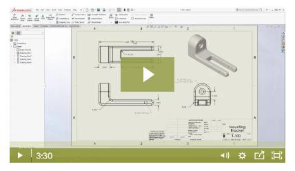 如何为多个项目复制SolidWorks工程图