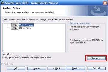 打包软件InstallShield提示和技巧:在功能选择对话框中禁用更改按钮