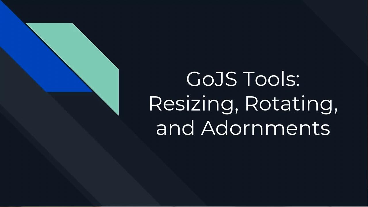 GoJS工具(一):调整大小,旋转,装饰