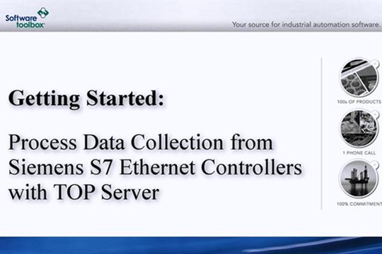 TOP Server OPC Server视频教程:西门子S7以太网的实时收集