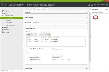 Windows网络守门人UserLock教程:限制时间进行访问链接