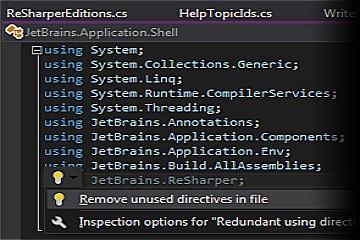 Visual Studio扩展工具ReSharper最新版本2019.3发布,为C#8和C++20提供了更好的支持(上)