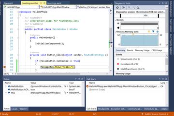 Visual Studio 2019教程:调试和测试使用C#创建的应用程序