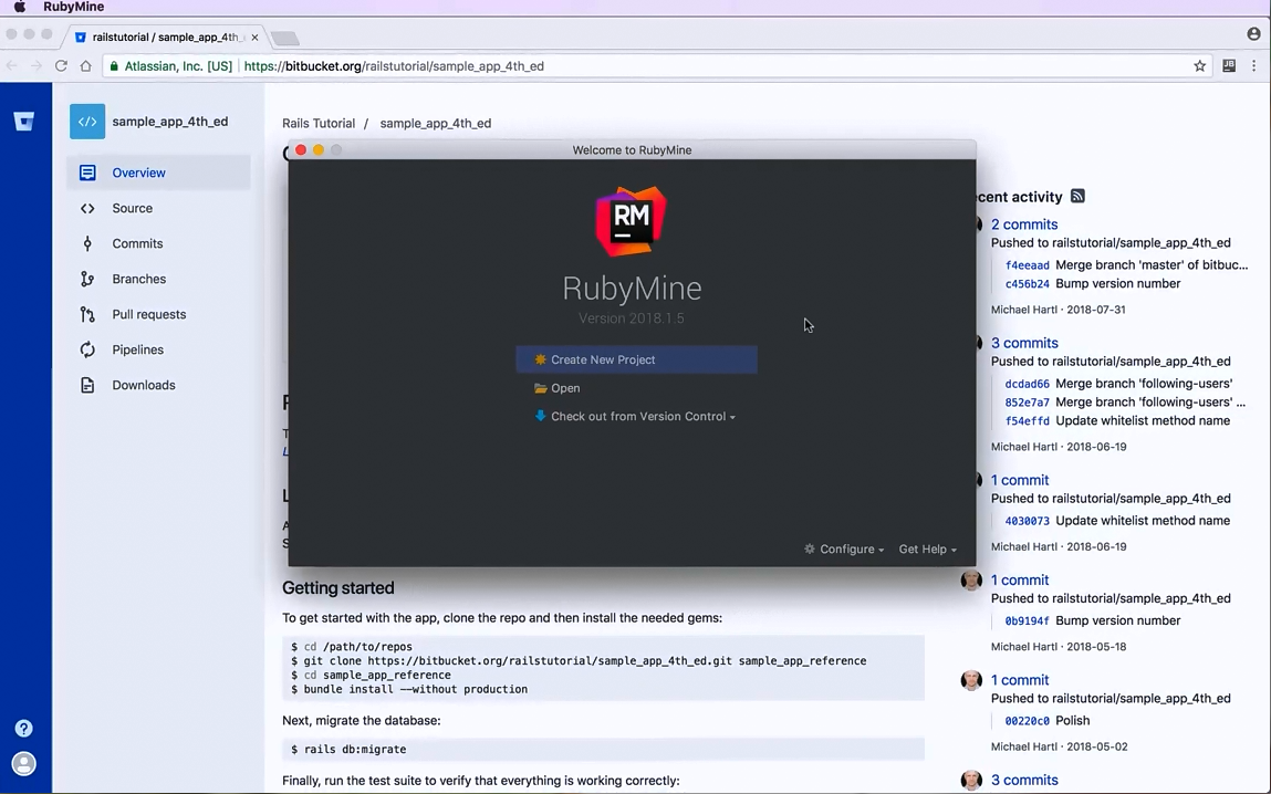 RubyMine视频教程(一):打开一个项目