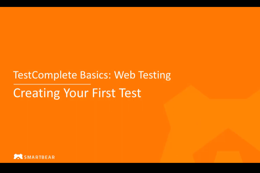 使用TestComplete进行Web测试:创建您的第一个Web测试