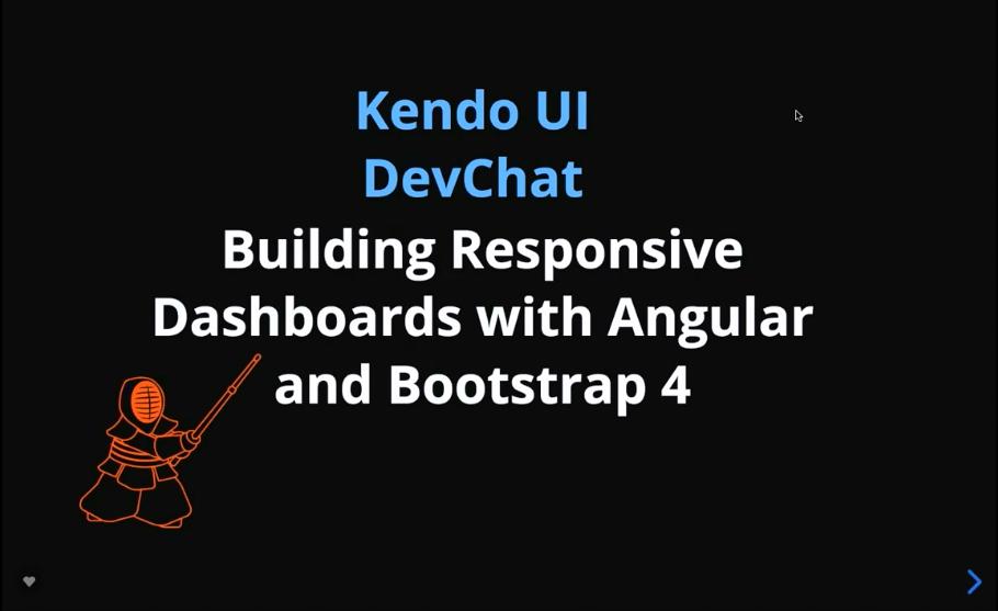 Kendo UI DevChat视频教程:使用Angular和Bootstrap 4构建响应式仪表板