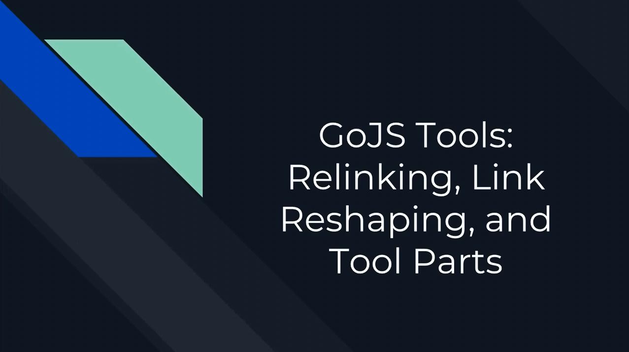 GoJS工具(三):重新链接,链接重塑,零件