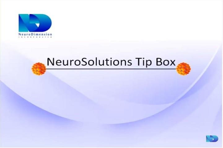 NeuroSolutions视频教程:输入投影算法