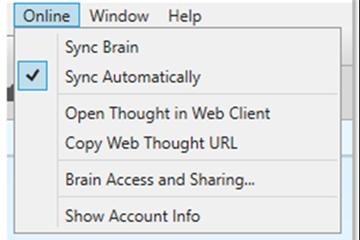 思维导图软件TheBrain基础实操教程:Online菜单选项的功能