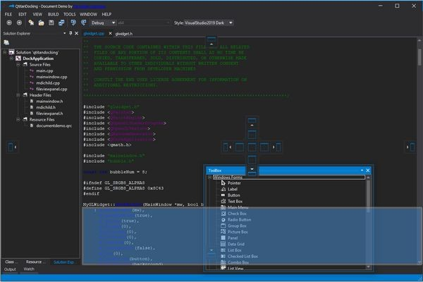 Qt框架组件QtitanDocking全新发布v3.0.0|重新设计拖放窗口