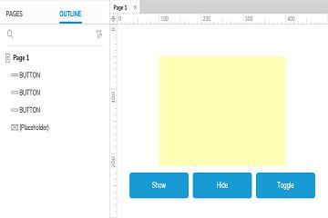 原型设计工具Axure RP新手教程(三):隐藏和显示小部件教程