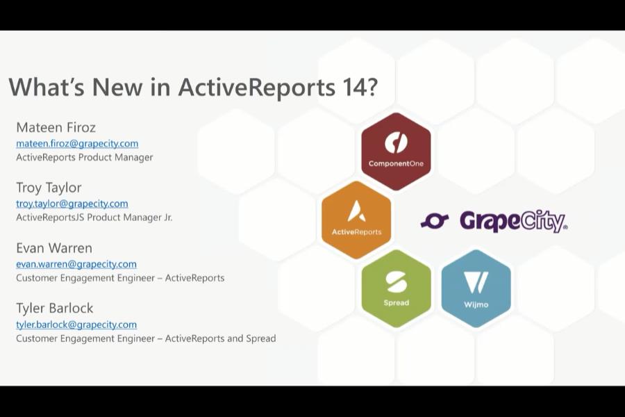 ActiveReports 14网络研讨会:支持.NET Core,及更多新功能