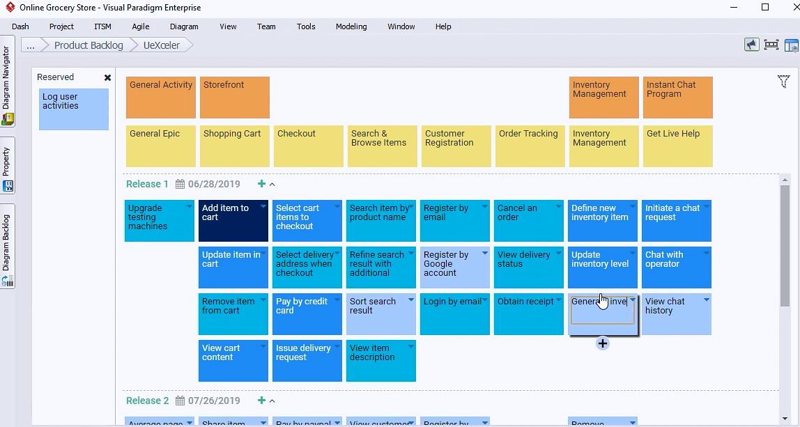Visual Paradigm 新功能详解(十三):Nexus Canvas - Nexus管理工具之用户故事地图