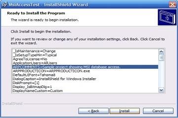 打包软件InstallShield提示和技巧:在运行时访问MSI数据库