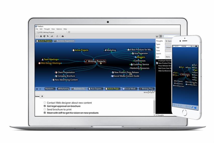 动态网状结构思维导图软件TheBrain2020首次修复更新!支持.mov视频文件