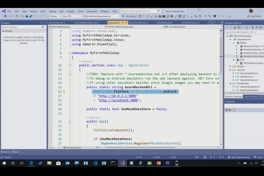 Visual Studio 2019:使用Xamarin进行跨平台iOS和Android开发