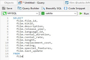 Navicat使用教程:如何选择MySQL中除一列外的所有列
