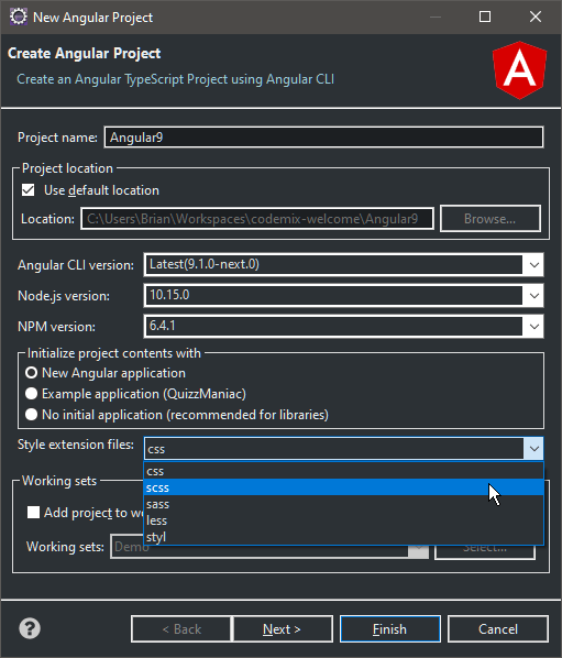CodeMix 2020.2.25发布 —— 对Angular 9的支持是重点