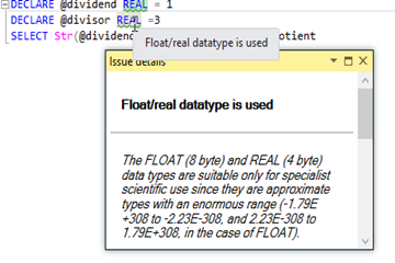 SQL Prompt使用教程:使用Float或Real数据类型的危险