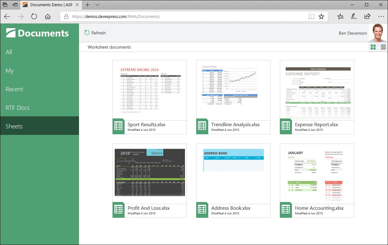 DevExpress ASP.NET示例:序列化自定义类型的参数