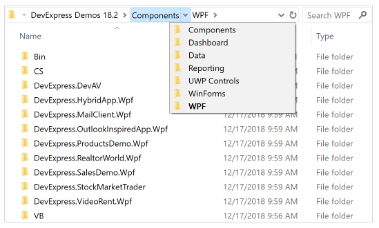 DevExpress WPF使用技巧教程:Breadcrumb控件