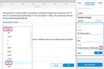 原型设计工具Axure RP入门教程(五):使用Droplist教程设置文本