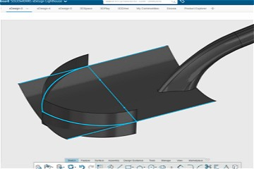 SOLIDWORKS xDesign中的曲面建模步骤示例:铁铲