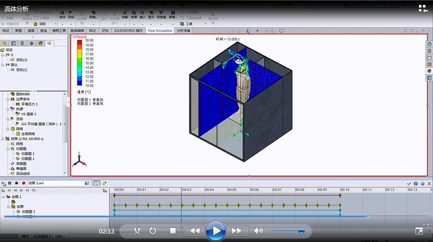 SOLIDWORKS操作视频|用SOLIDWORKS流体仿真分析验证浴室设计
